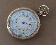 An excellent Waltham fob pocket watch for repair, prairie house scene/dedication