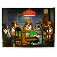 Dogs Poker Wall Hanging Tapestry Psychedelic Bedroom Home Poster