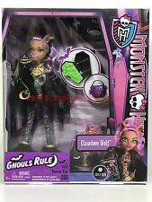 Monster High Doll Ghouls Rule Clawdeen Wolf New in Box Retired