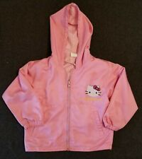 Size 10 Young Girl's Hello Kitty Pink Front Full Zippered Jacket