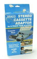 Vintage Kraco Stereo Cassette Adapter for 8 Track Tape Players Model KCA-7B