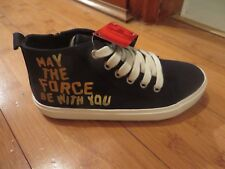 childs boys canvas shoes boots black next size 12 star wars new with tags