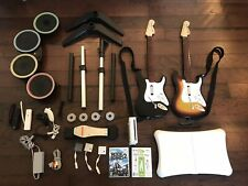 Nintendo Wii Console + Rock Band 2 + Wii Fit Bundle