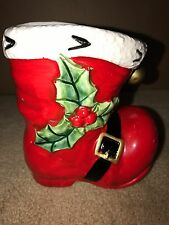 Vintage Relpo Christmas Santa Boot Vase Planter #2004 Japan