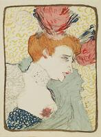 """Toulouse Lautrec Vintage French Art CANVAS PRINT Marcelle Lender poster 24""""X18"""""""