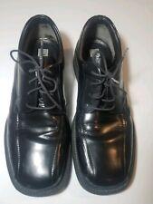 Alfani Men shoes 10 M leather Oxfords black lace up square toe Italy