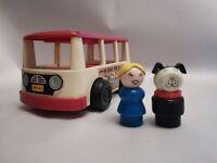 Vintage Fisher Price Mini Bus Mini Van and 2 passengers, 1969