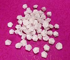 12 Diorröschen weiß Satinröschen Hochzeit ohne Stiel Stoffröschen kleine Rosen