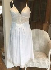 NWT Pretty Grecian Style White Cotton Dress Size 10