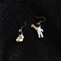 Cute Asymmetrical Star Space Fashion Jewelry Ear Stud Women Gifts Stud Earrings