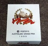 1990 Australian 500th Grand Prix Fosters Commemorative Beer Glasses Barry Lake