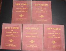 Vintage Vauxhall Model E & Bedford Model Ca Shop Manuals!