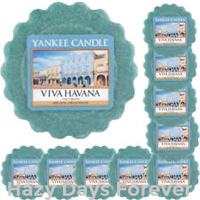 10 YANKEE CANDLE WAX TARTS Viva Havana  Fruit Scented Melts SANDALWOOD & SPICE