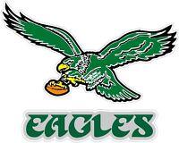 "Philadelphia Eagles Color Die Cut Vinyl Decal Sticker - You Choose Size 2""-34"""