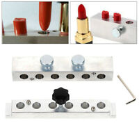 1 Set 6 Cavities Aluminum Lipstick Mold Six Holes Lipstick Mould DIY 12.1mm New