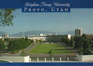 Brigham Young University Provo Utah, BYU, LDS Institution of Learning - Postcard