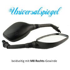 Spiegel SET Spiegelset universal für Roller M8 Gewinde beidseitig rechts