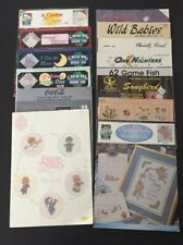 Lot #1- 14 Cross-Stitch - Needlepoint - Quilting Booklets - Precious Moments etc