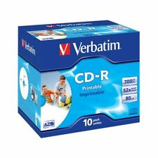 CD-R 52x FF Printable Verbatim AZO Caja Jewel 10 uds ID Branded
