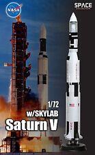 Dragon 50392 1/72 Saturn V Rocket w Sky Lab model factory built and finished