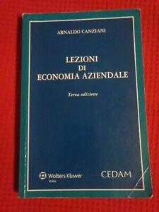 Lezioni di economia aziendale, Arnaldo Canziani - CEDAM 2014 terza edizione