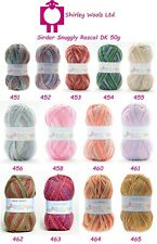 Sirdar Snuggly Rascal Dk 50g - Complete Range - Clearance Price £1.99