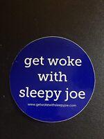 2-pack of BLUE Get Woke with Sleepy Joe stickers REPUBLICAN DEMOCRAT BIDEN TRUMP