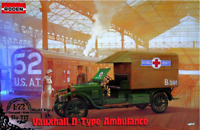 Roden 717 - Vauxhall D - type Red Cross - 1/72 scale model airplane kit 62 mm