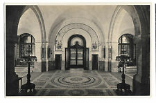 The Hague, Palace of Peace, Unposted  RP PPC, Main Entrance seen from Vestibule