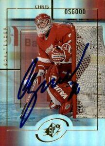 Chris Osgood Signed 1999/00 Upper Deck SPX Card #57 Detroit Red Wings