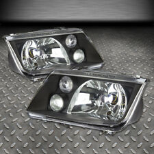 FOR 1999-2005 VW JETTA MK4 PAIR BLACK HOUSING CLEAR LENS HEADLIGHT W/FOG LAMP