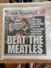 Vintage Beatles John Lennon Paul McCartney BEAT THE MEATLES  NY Port Original