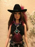 Handmade Jewelry /&  Accessories for Barbie Pheasant Feather Hat Necklace Belt