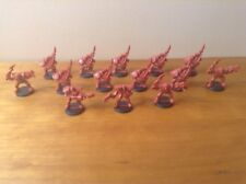 Lot of 14 Red Skeleton Plastic Figures Soldiers Gangers Sci Fi Post Apocalypitic