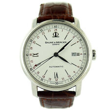 BAUME & MERCIER AUTOMATIC 65494 CLASSIMA XL EXECUTIVE WHITE DIAL S.S. MENS WATCH