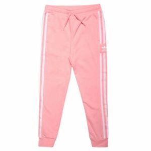 Girl's adidas Originals Junior Lock Up Regular Fit Casual Track Pants in Pink