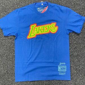 Mitchell & Ness Royal NBA Los Angeles Lakers Weatherman T-Shirt