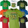 TMNT Teenage Mutant Ninja Turtles Tshirt Tee Top Adults Kids Retro 90's Cartoon