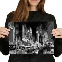 A4 BW - Times Square New York City Poster 29.7X21cm280gsm #38163