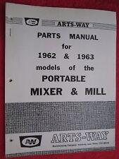 1962 Amp 1963 Arts Way Models Of Portable Mixer Amp Mill Parts Manual