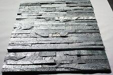 Riemchen Schiefer Steinwand Verblender Tibet silbergrau  Fliesen Muster 39€/m²!!