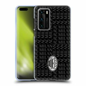 OFFICIAL AC MILAN CREST PATTERNS SOFT GEL CASE FOR HUAWEI PHONES