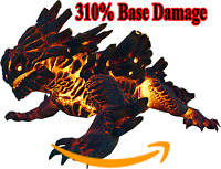 Ark Survival Evolved PC - PVE NEW - MAGMASAUR - 378% Damage 100% Imprinted