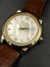 Vtg Men's Swiss Automatic MOVADO KINGMATIC 14K Gold-Filled WRIST WATCH