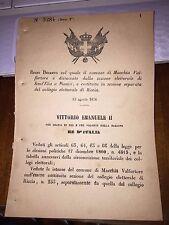 REGIO DECRETO COMUNE MACCHIA di VALFORTORE sep SANT'ELIA a PIANISI ,sez RICCIA