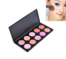 New Pro 10 Color Blush Face Blusher Powder Cheek Makeup Beauty Cosmetic Palette