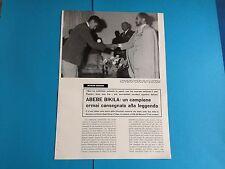 Article Italian/Ethiopian Articolo:  ABEBE BIKILA **1966**