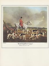 """1974 Vintage FOX HUNTING """"EARL OF DARLINGTON AND HIS FOX HOUNDS"""" Art Lithograph"""