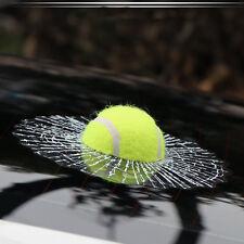 UNIVERSAL Fits Car 3D Simulatio Tennis Ball Decal Broken Window Sticker Body