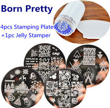 6Pcs/set Nail Art Stamping Plate Stamper Scraper Template Image BORN PRETTY Tool